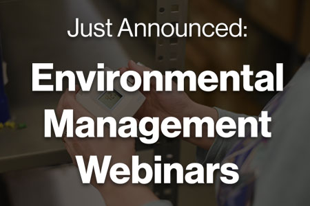Free Environmental Management Webinars